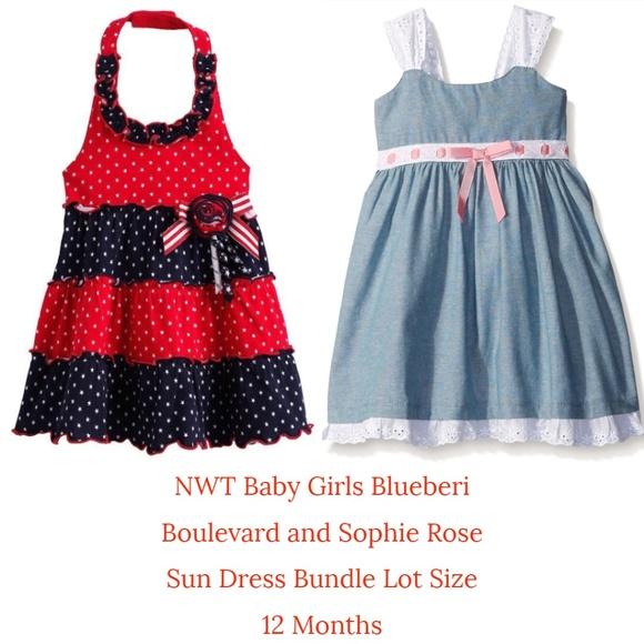 1f28e8860f29 Blueberi Boulevard Dresses   Blueberi Blvd Sophie Rose Baby Girl Sun ...